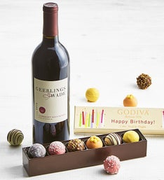 Godiva Birthday Box & Cabernet Wine