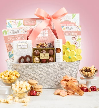 Full Bloom Sweet Treats Basket