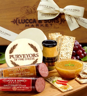 Lucca  Sons Sausage  Cheese Gift Box