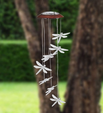 Solar Color-Changing Dragonfly Wind Chime