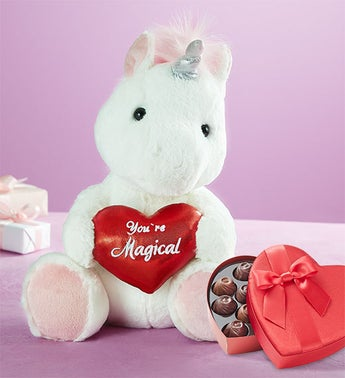Unicorn with Youre Magical Heart and Chocolate
