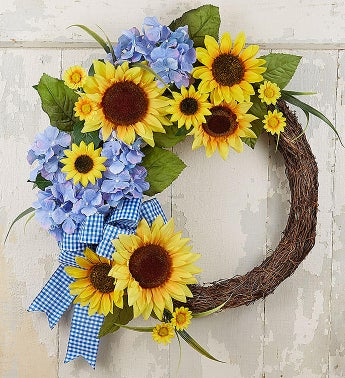 Keepsake Farmhouse Sunflower Wreath- 18