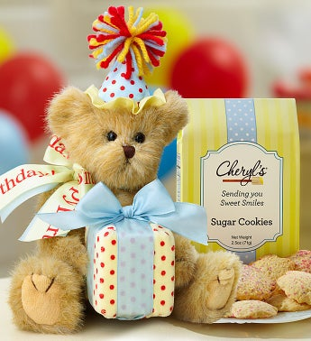 Bearington Birthday Bear with Cheryls Cookies