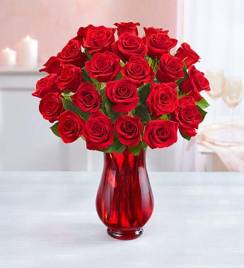 Two Dozen Red Roses  Free Shipping