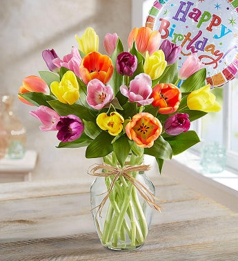 Timeless Tulips Happy Birthday