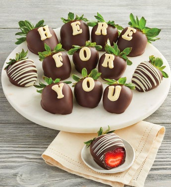 34Here for You34 Chocolate-Covered Strawberries