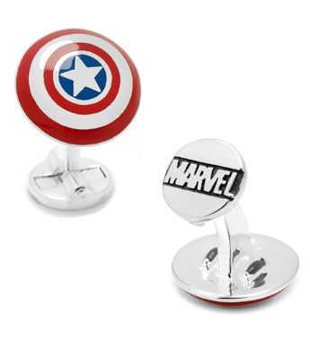 3D Captain America Shield Cufflinks