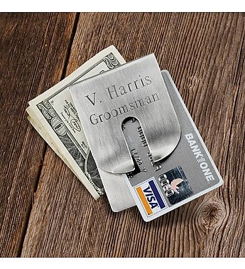Personalized Clever Money Clip and Wallet