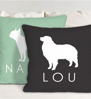 Personalized Dog Breed Throw Pillow