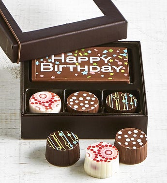 Simply Chocolate Birthday Bar  Truffles 4pc