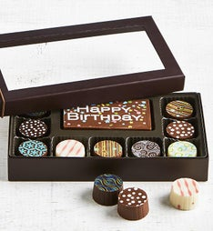 Simply Chocolate Birthday Bar & Truffles 10pc