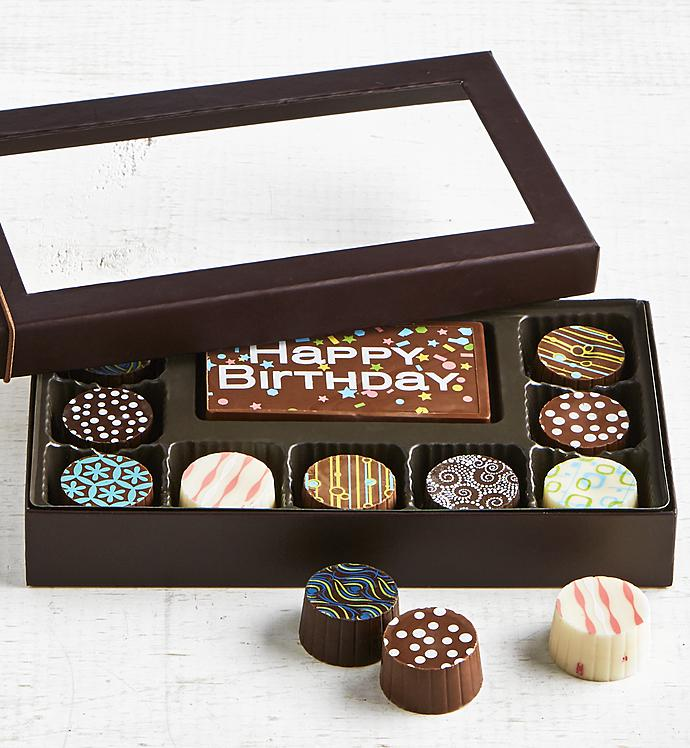 Simply Chocolate Birthday Bar  Truffles pc