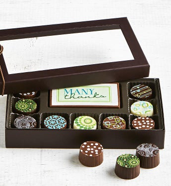 Simply Chocolate Thank You Bar & Truffles 10 pc
