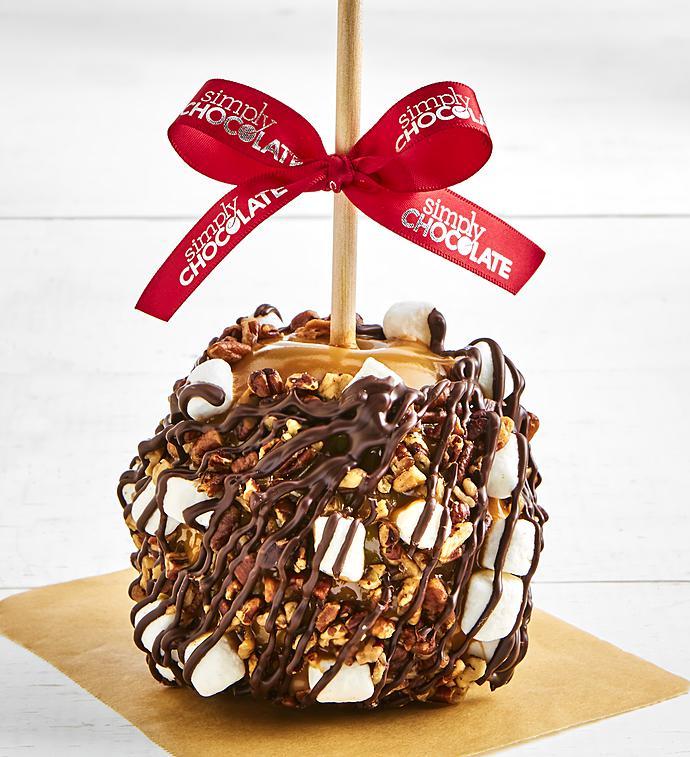 Simply Chocolate Rocky Road Caramel Apple