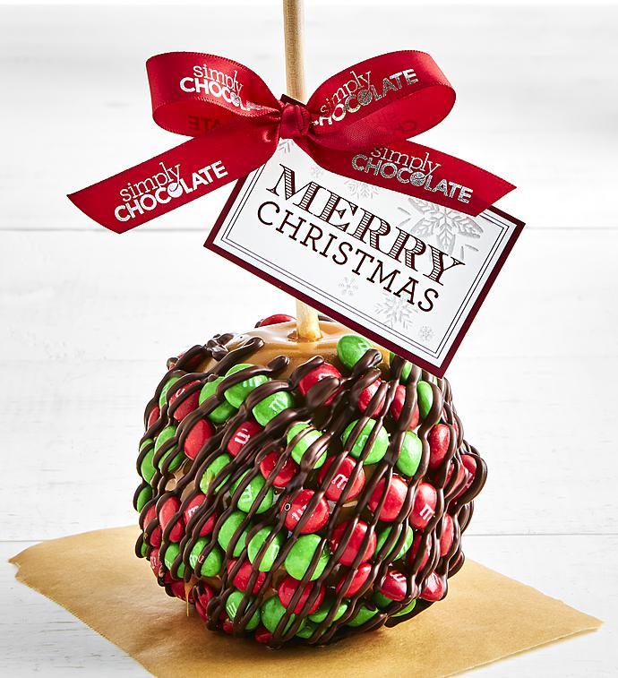 Simply Chocolate Christmas Chocolate Candy Apple