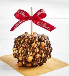 Simply Chocolate Peanut Caramel Apple