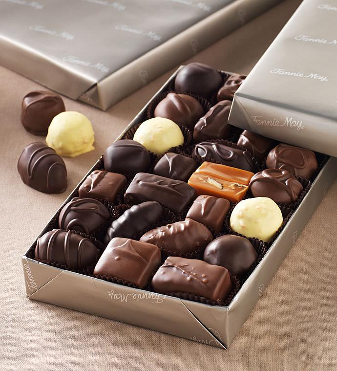 Fannie May Milk  Dark Asst Chocolates gluten free