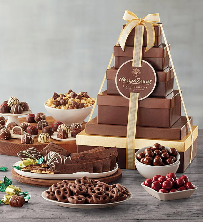 Harry and David Tower of Chocolates Gift