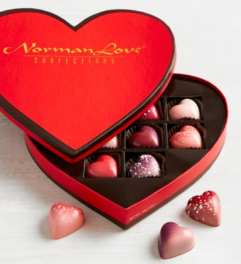 Norman Love Confections 10 Pc Heart Box Simplychocolate Com