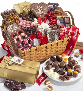 Simply Chocolate Decadent Valentine Gift Basket Simplychocolate Com