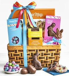 Chocolate gift baskets gift baskets delivered simply chocolate fannie may deluxe chocolates easter basket negle Choice Image