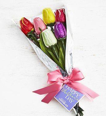 Simply Chocolate Mothers Day Tulip Bouquet