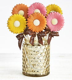 Fannie May Sweet Spring Chocolate Daisy Pops