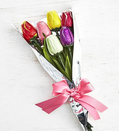 Simply Chocolate Celebrate Spring Tulip Bouquet