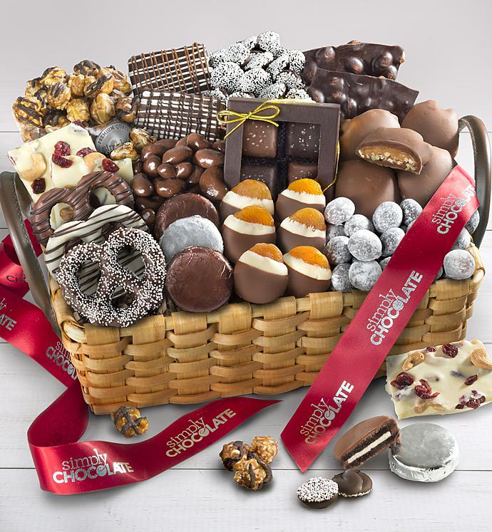 Simply Chocolate Deluxe Splendid Sweets Basket