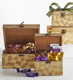 Cosmopolitan Chocolates Wood Box Tower