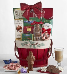 Cherished Christmas Chocolate  Sweets Basket
