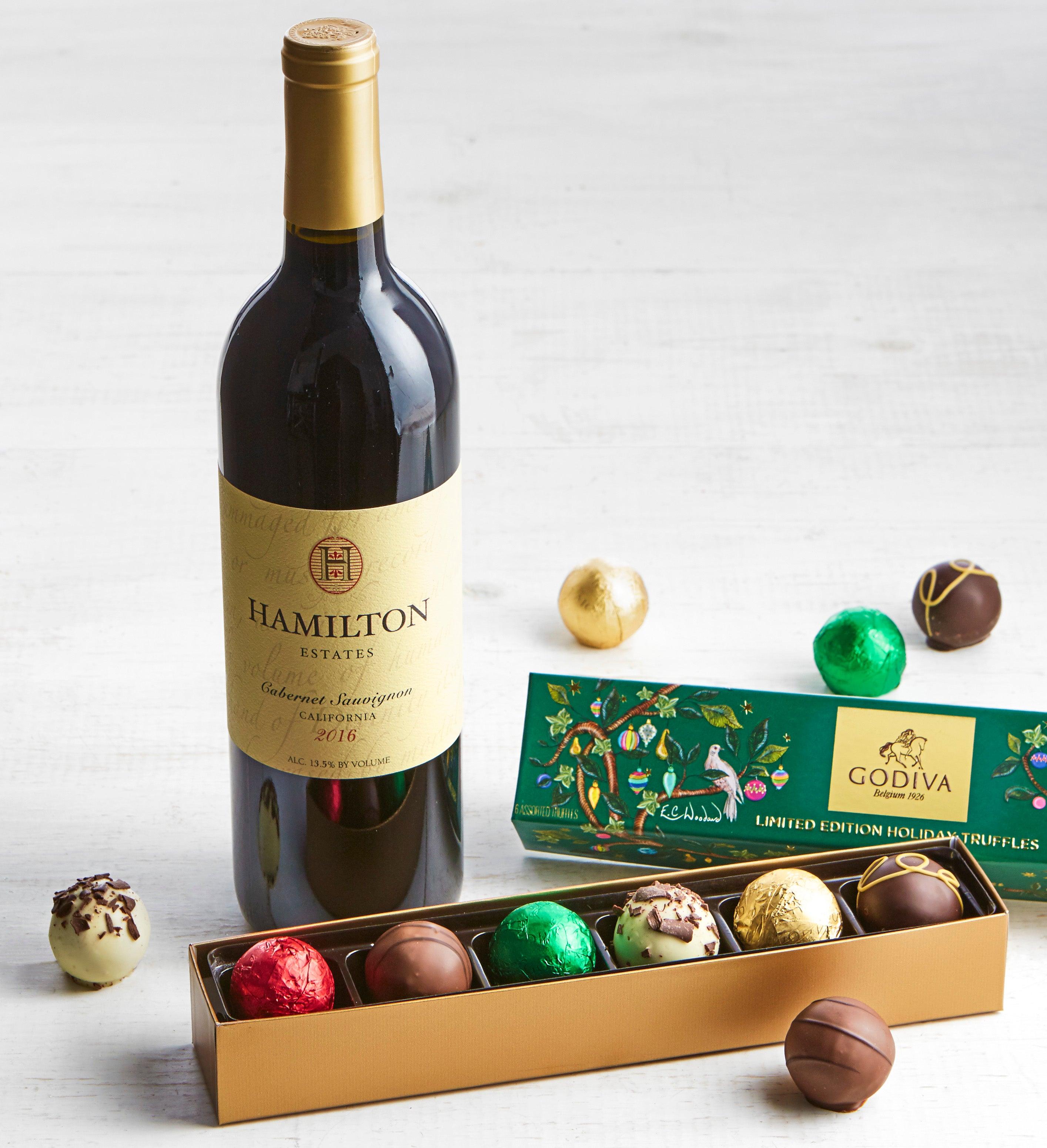 Godiva Ltd Ed Holiday Truffles Box  Cabernet Wine