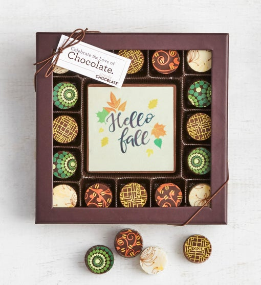 Simply Chocolate Hello Fall Bar & Truffles 17pc