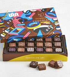 Max Brenner 18 Pc Chocolate Art Bon Bon Box