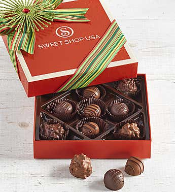 The Sweet Shop Holiday Fudge Love Truffles 9pc