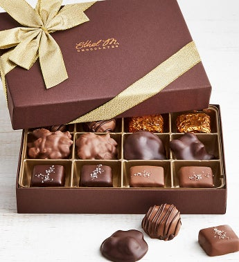Ethel M Chocolates Nuts & Caramels 12pc