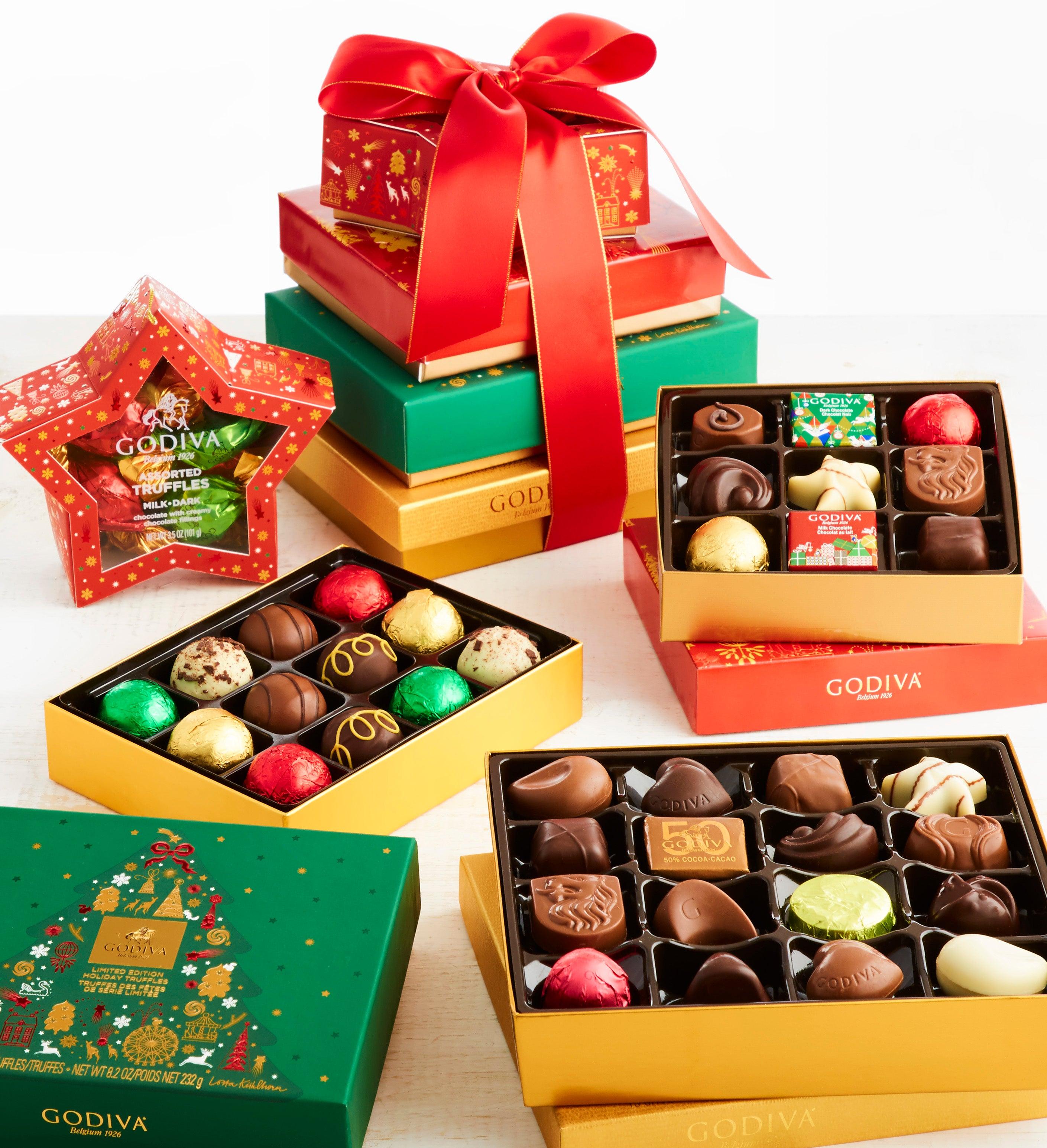 Godiva  Exclusive Holiday Chocolates Tower