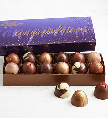 Simply Chocolate Congrats! Colossal Truffles  12pc