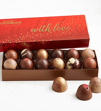 Simply Chocolate With Love Colossal Truffles  12pc