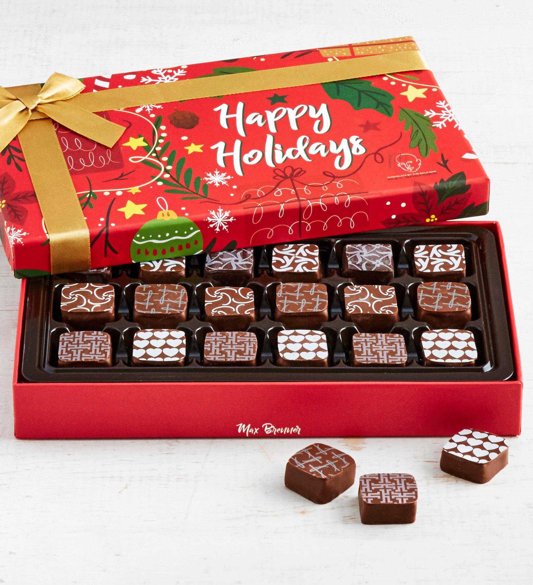 Max Brenner 18 Pc Holiday Chocolate Bon Bon Box