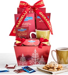 Ghirardelli Holiday Trees Mug  Sweets Basket