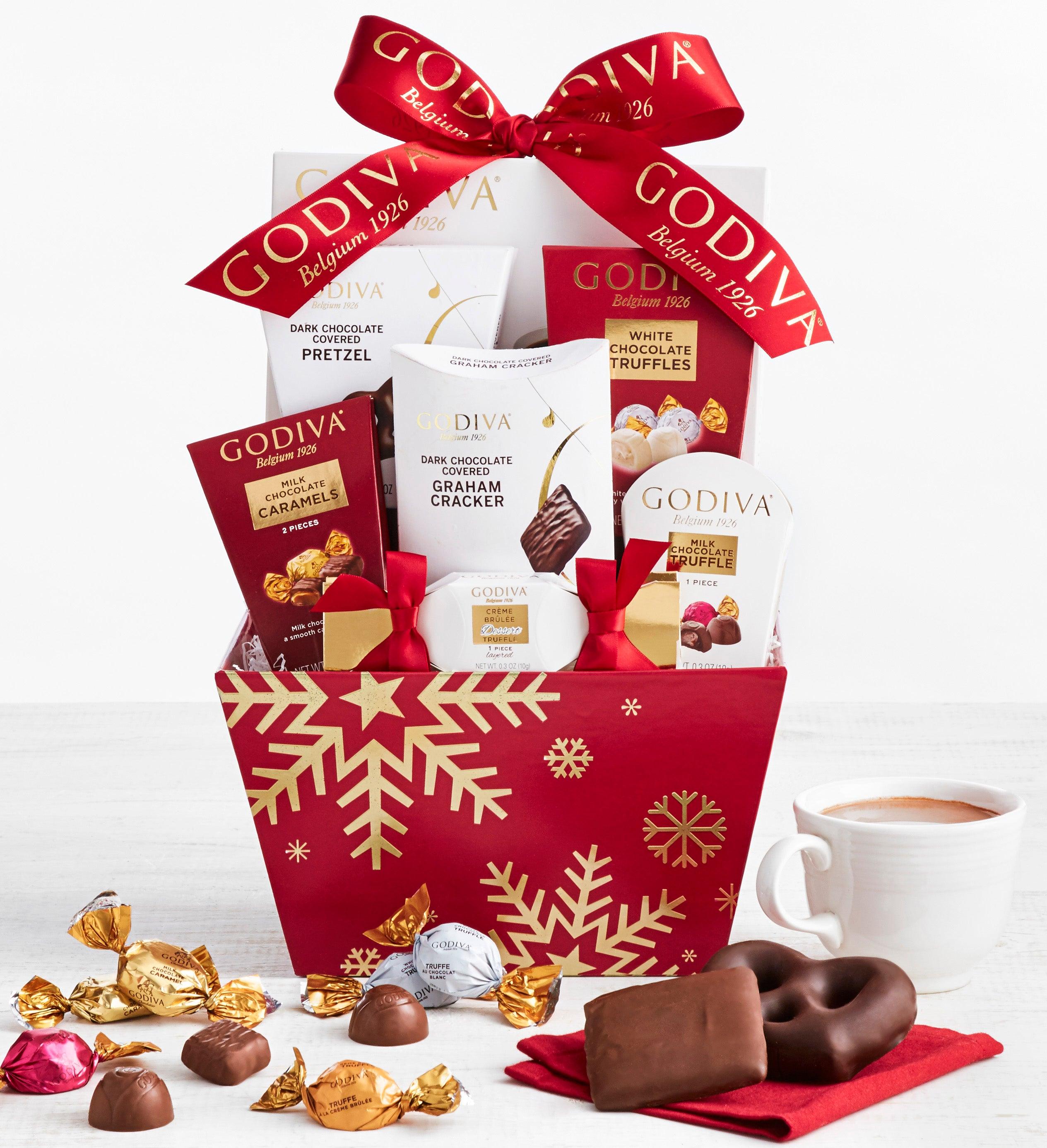 Godiva Holiday Snowflake Gift Basket