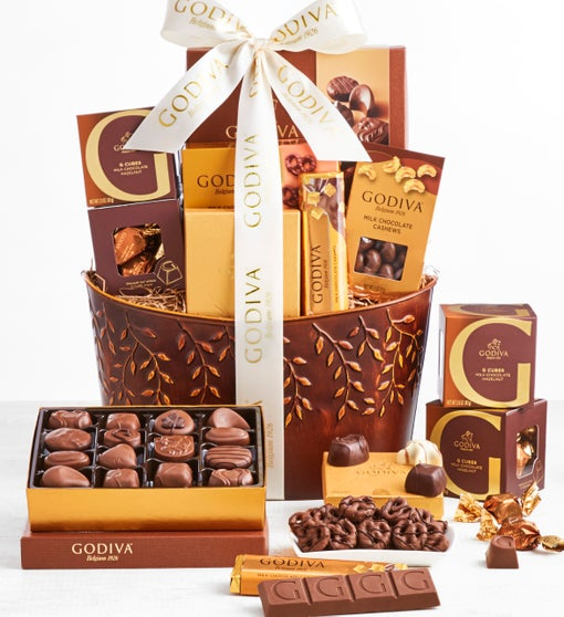Exclusive Godiva Divine Chocolates Basket - Deluxe