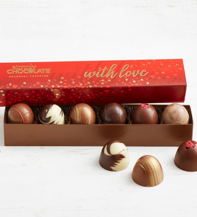 Simply Chocolate With Love Colossal Truffles pc