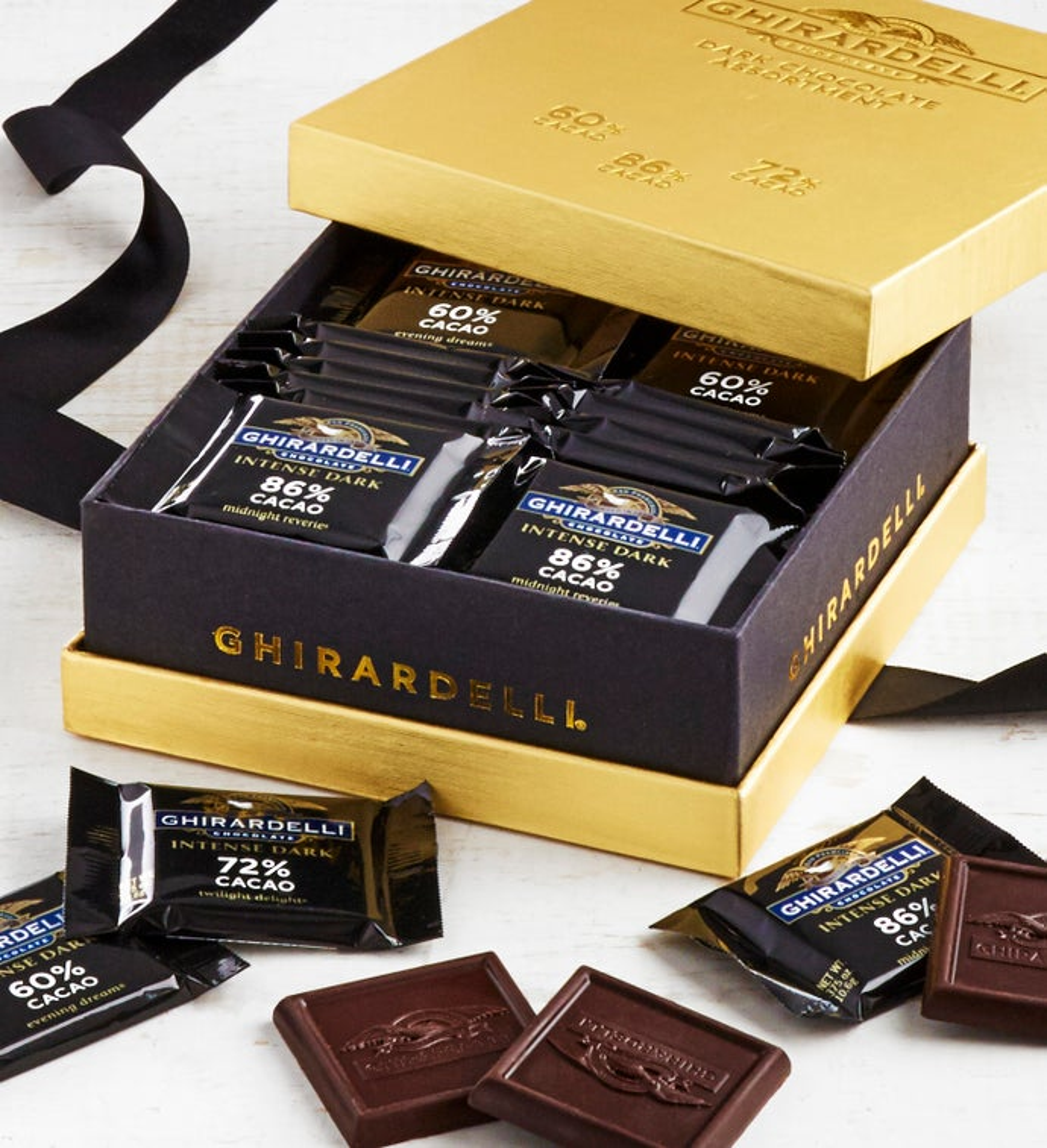 Ghirardelli Intense Dark Chocolate Gold Box pc