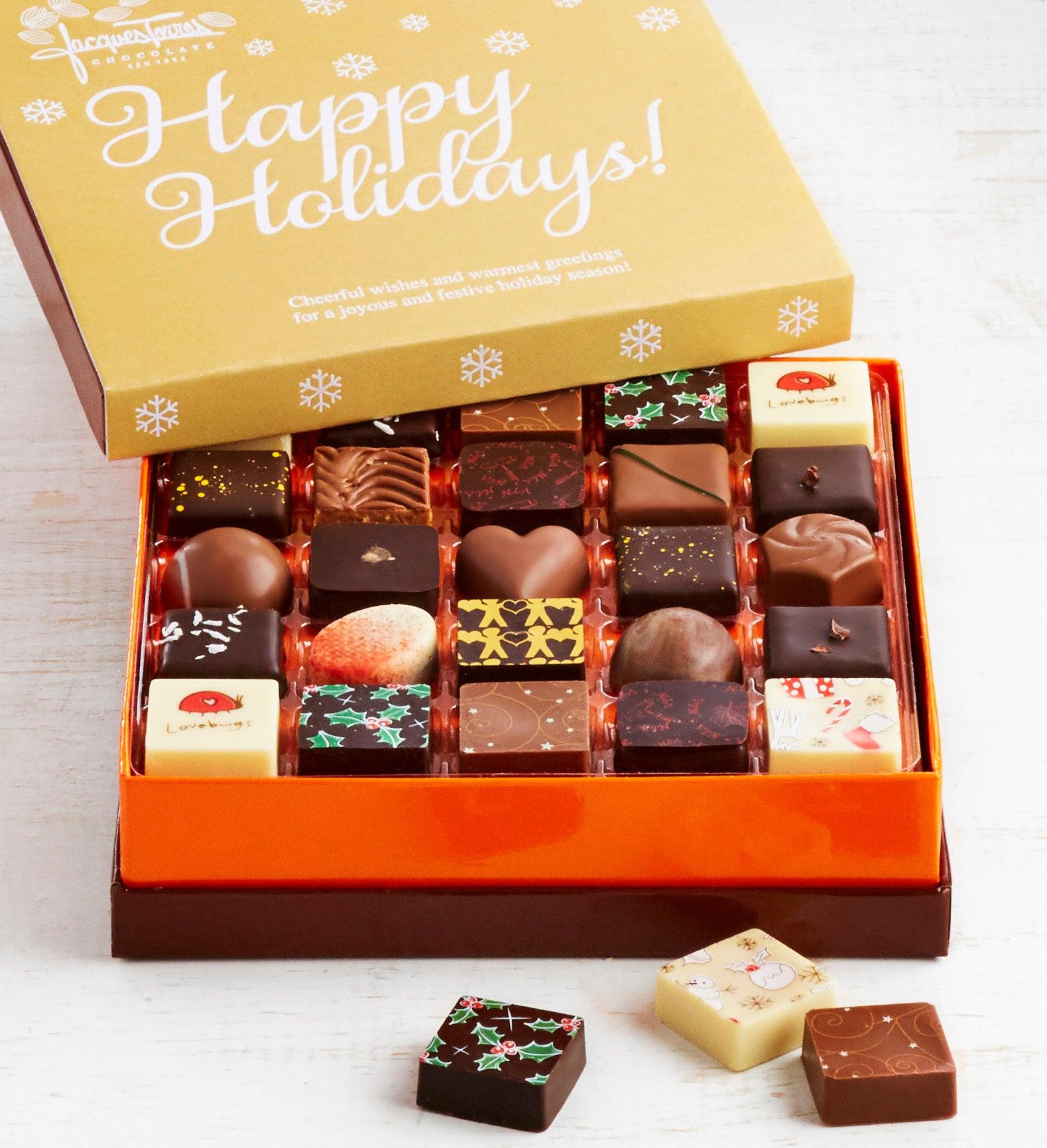 Jacques Torres Happy Holidays Chocolates Box pc