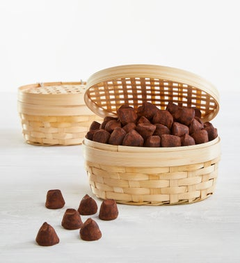 Guyaux Classic French Chocolate Truffle Basket