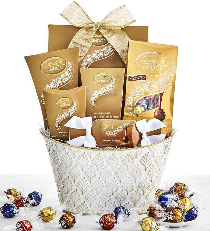 Golden lindt chocolates assortment basket simply chocolate golden lindt chocolates assortment basket negle Choice Image