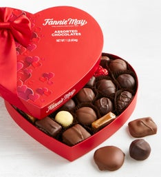 Fannie May Assorted Chocolate Heart Box   LB