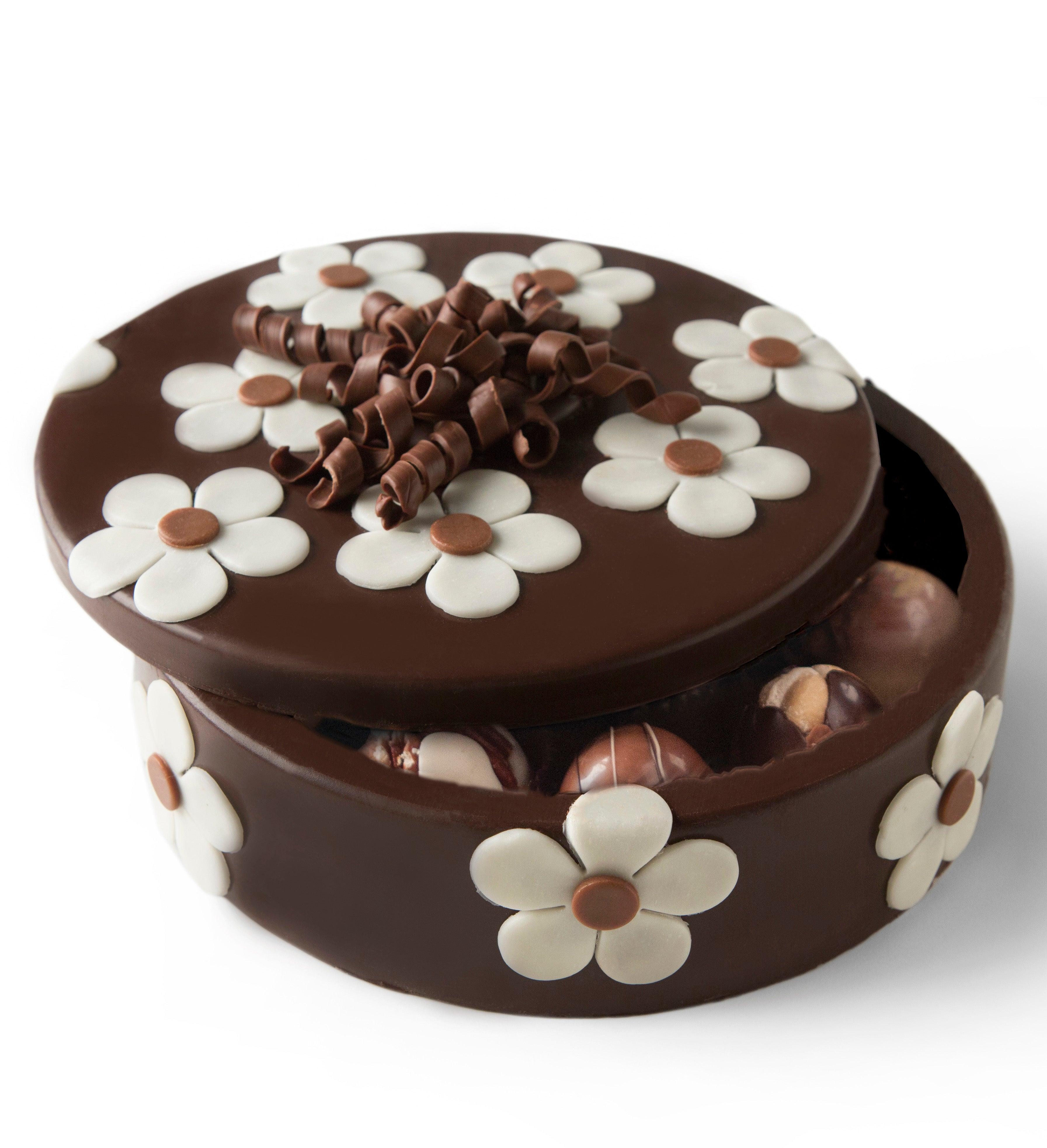 Chocolate Flower Box with Truffles